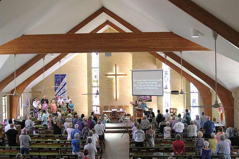 Church service taking place